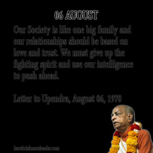 Srila Prabhupada Quotes For Month August06