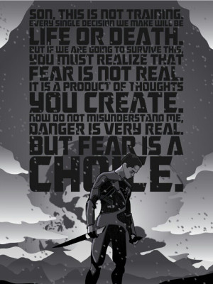 Fear is in the future..future is imagination..having fear is insane