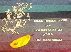 Scrabble Hunger Games Quote!!
