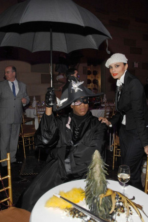 Andre Leon Talley's & Rachael Roy at a Marc Jacobs party