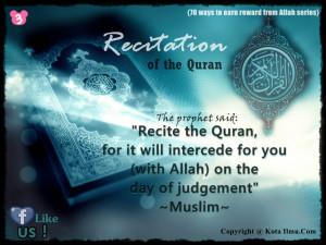 recitation of the quran Quran Quotes About Life