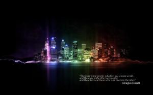 City Life Dream Neon Quote Quotes 1920x1200 hdw.eweb4.com