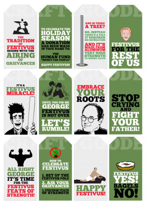 Seinfeld Festivus Quote Gift Tags | Printable | Typography