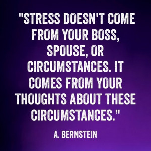 """Savvy Quote: """" Stress Doesn't Come From Your Boss, Your Spouse or ..."""