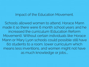 Horace Mann Education Reform Impact of the education