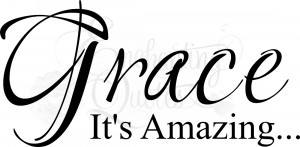 Religious Quotes | Vinyl Wall Sayings | Amazing Grace