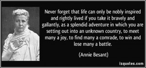 More Annie Besant Quotes