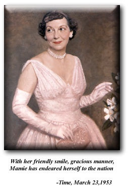 Mamie Eisenhower, wife of the 34th president of the United States of ...