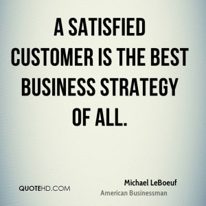 Michael LeBoeuf Business Quotes