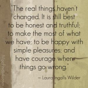 Today's Quote: Laura Ingalls Wilder – Simple Pleasures