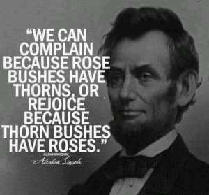 ... thorns, or rejoice because thorn bushes have roses.
