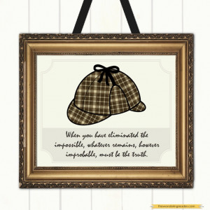 Sherlock Holmes Science of Deduction Quote Print, via Etsy.
