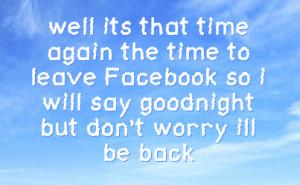 Goodnight Facebook Status Updates Bedtime facebook status on sky