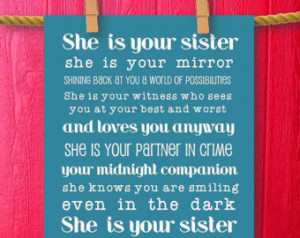Friendship Quotes For Teenage Girls Sister gift teen room decor,