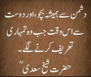 sayings of saadi in urdu friendship urdu message best friend