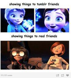 tumblr friends vs real friends hahaha i wish i had a tumblr