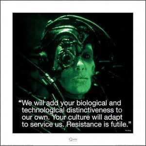 STAR TREK: THE NEXT GENERATION - ART PRINT / POSTER (BORG / QUOTE)