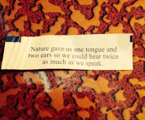 My fortune cookie. Great quote;)