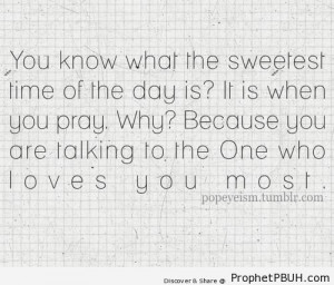 Sweetest Time of the Day - Islamic Quotes About Salah (Formal Prayer ...