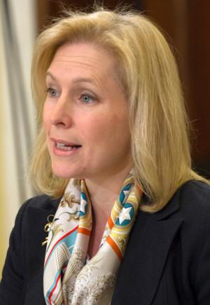 Sen. Kirsten Gillibrand, D-N.Y., shown here at a Senate committee ...