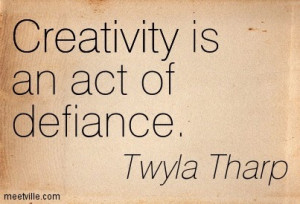Some thoughts on creativity.