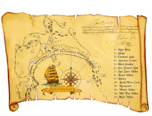Treasure Hunt Maps Template