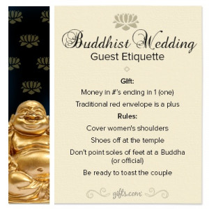 Buddhist #Wedding Guest #Etiquette. If you're attending a Buddhist ...
