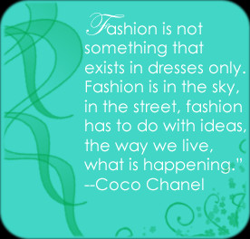 Fashion is not something that exists in dresses only. Fashion is in ...