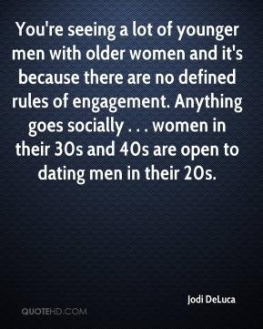 Jodi DeLuca - You're seeing a lot of younger men with older women and ...