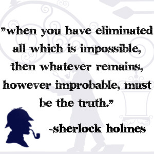, real) private investigators share many traits with Sherlock Holmes ...