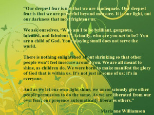 Marianne Williamson on why we should shine