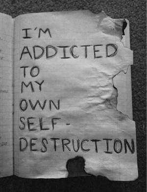 sad suicidal suicide quotes black hate cut upset i hate myself ...