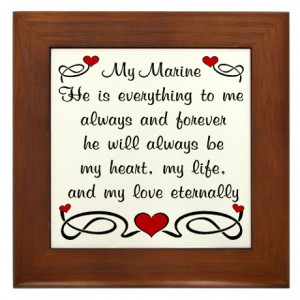 Deployment Gifts > Deployment Living Room > Marine Poem of Love Framed ...