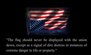 American flag distress