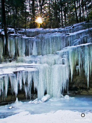 Icicles in Hocking Hills