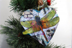 dragonfly inspirational #quote art ornament has the #inspirational ...