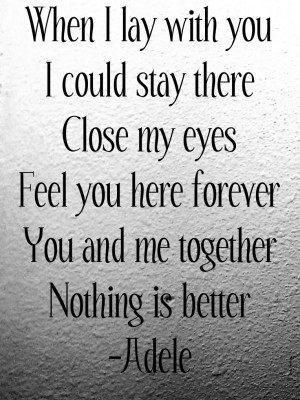 adele, love, lyrics, quotes