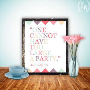 Jane Austen Quote Printable wall art, Inspirational quotes art print ...