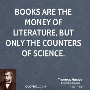 English Literature Quotes The money of literature,