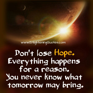 Keep the Faith up. The best is yet to come!