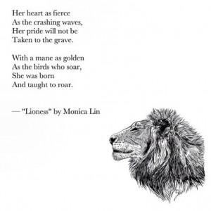 Lioness Quotes Lioness- monica l. written