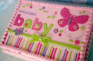 baby shower cake it is such a beautiful baby shower cake that you can ...