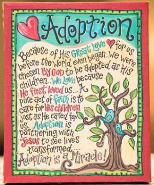 Adoption' Tabletop Canvas