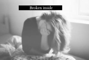 broken inside | tumblr quotes sad text