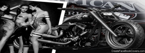 Harley Davidson 9 And Hot Women Wallpaper Facebook Cover