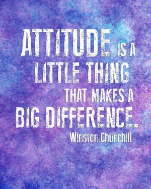 Attitude Inspirational Quote - Classroom Decor - 8x10 Watercolor ...