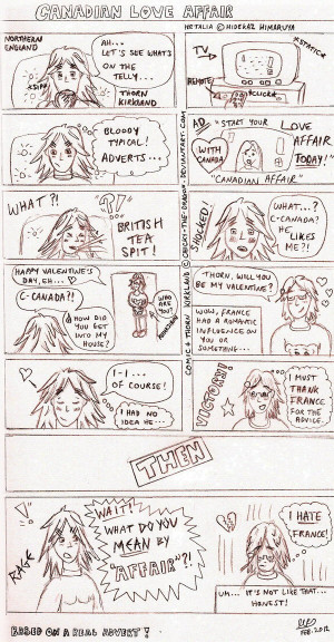 Funny Hetalia Comics Tumblr Hetalia - canadian love affair