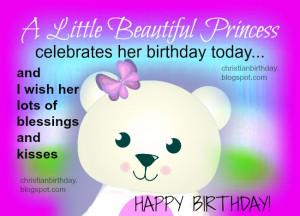 happy birthday for a girl a little princess christian birthday ...
