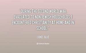 During the Second World War, evacuated to non-Jewish households, I ...