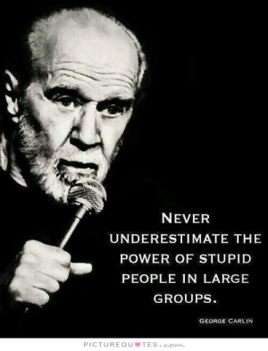 ... the power of stupid people in large groups Picture Quote #1